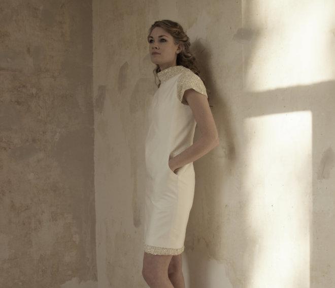 Korte jurk met steekzakjes