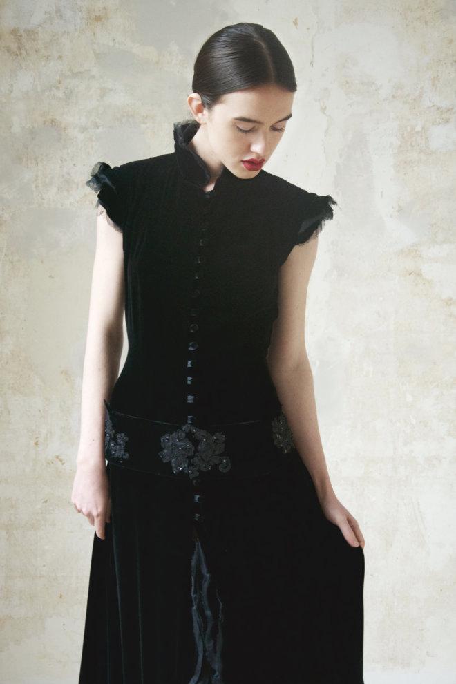 zwart fluweel lang 1