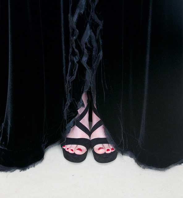 zwarte fluwelen jurk detail 2